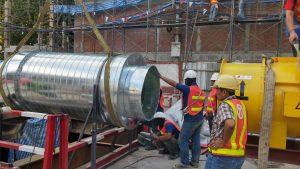 งานติดตั้งท่อรถไฟฟ้าใต้ดิน