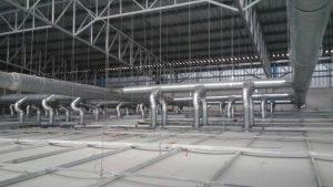 ติดตั้งท่อลม ท่อ duct โรงงานอุตสาหกรรม